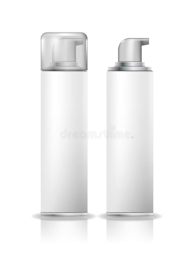 Barbeando o pulverizador cosmético da garrafa da espuma Zombaria branca do recipiente do pulverizador acima Ilustração do vetor R ilustração do vetor