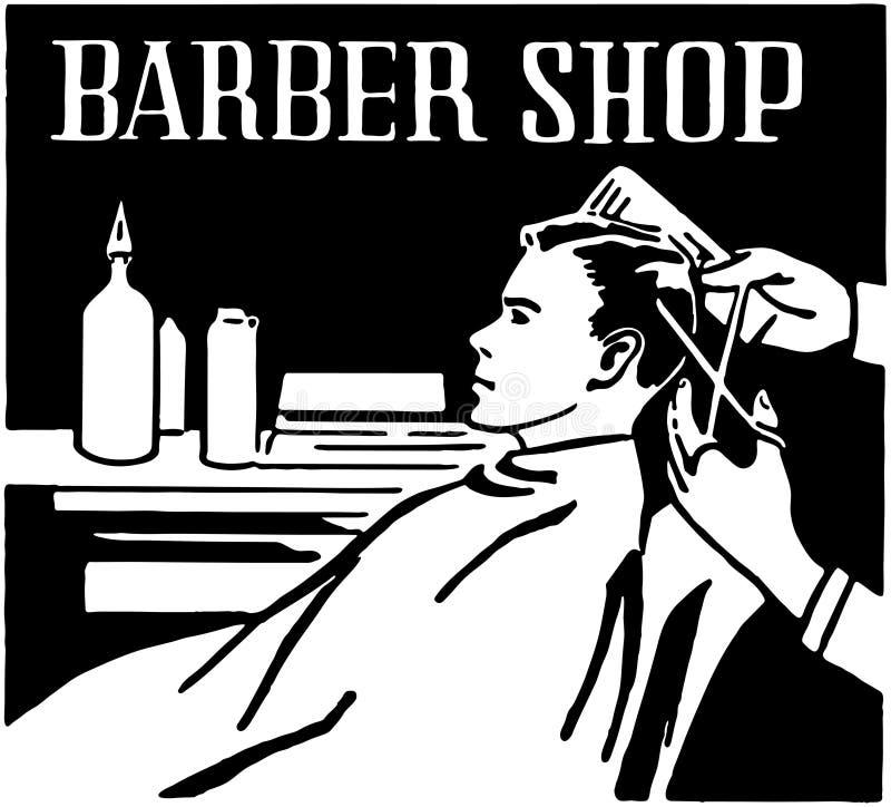 Barbearia ilustração stock