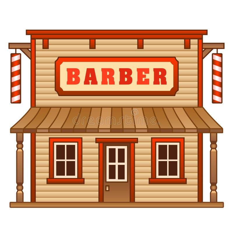 Barbearia ocidental selvagem ilustração do vetor