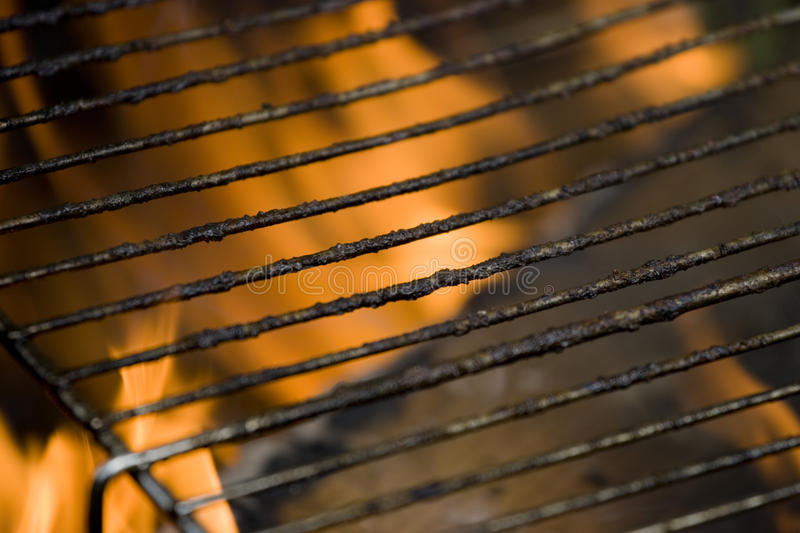 Barbecue. Close up of barbecue greasy bars royalty free stock photos