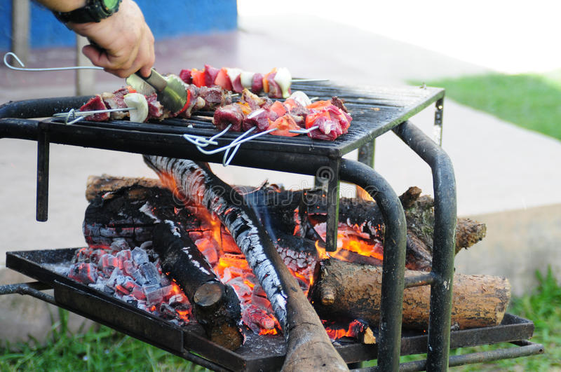 Download Barbecue. stock photo. Image of beef, grill, cooked, pork - 12149648