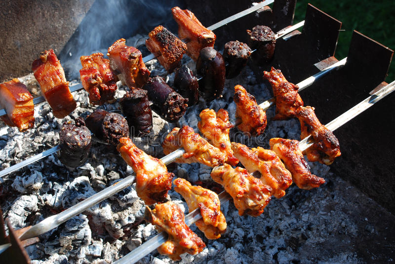 Download Barbecue stock image. Image of high, blood, burnt, hand - 21088337