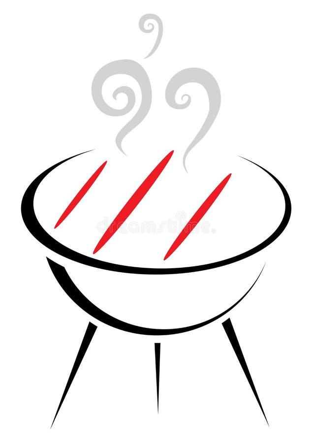 Barbecue royalty-vrije illustratie