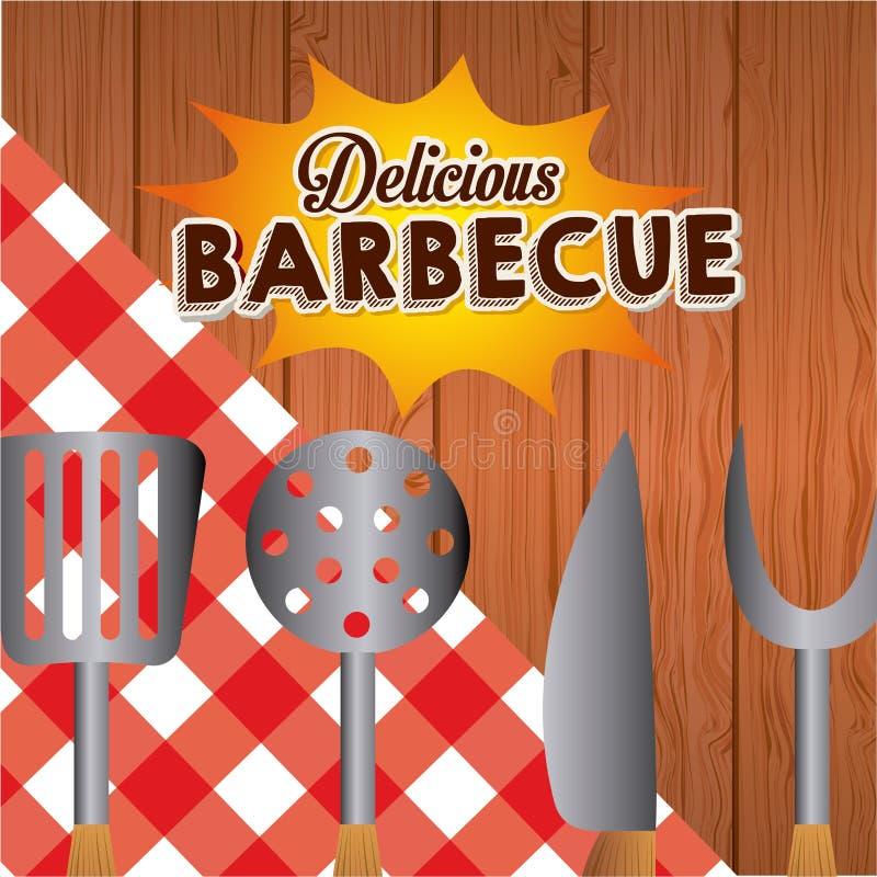 barbecue ilustração do vetor