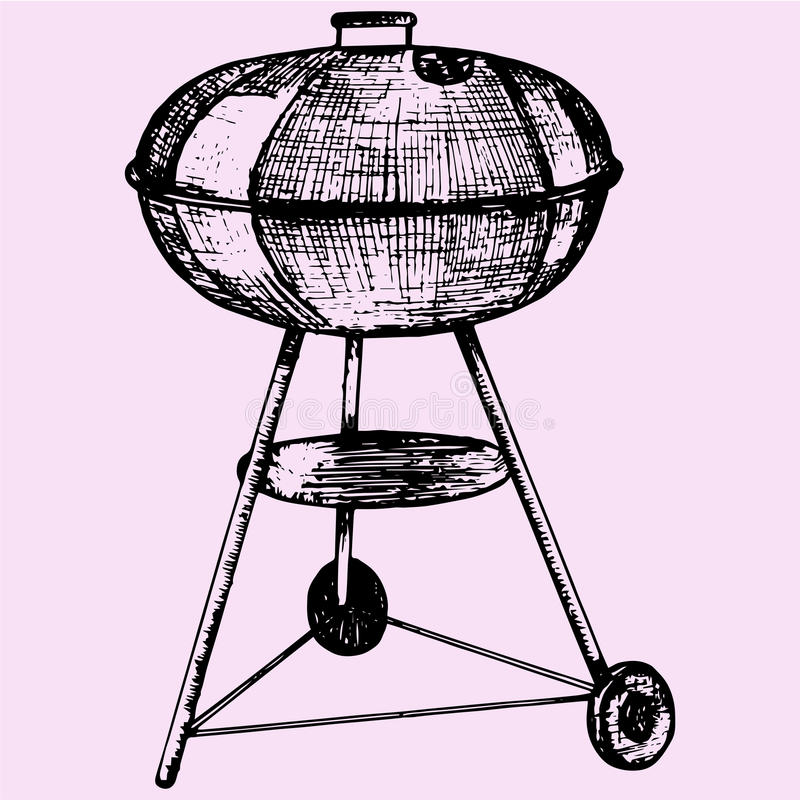 barbecue ilustração royalty free