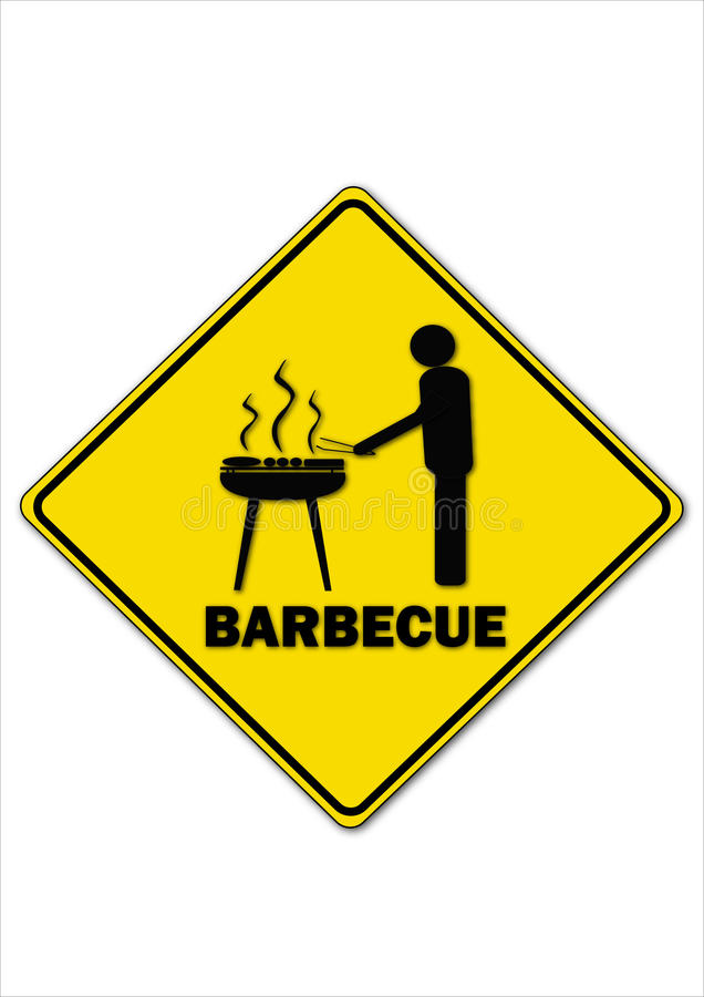 Barbecue. A road sign means barbecue royalty free illustration