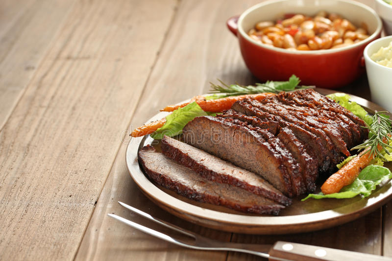Barbecue beef brisket. Texas style stock photography
