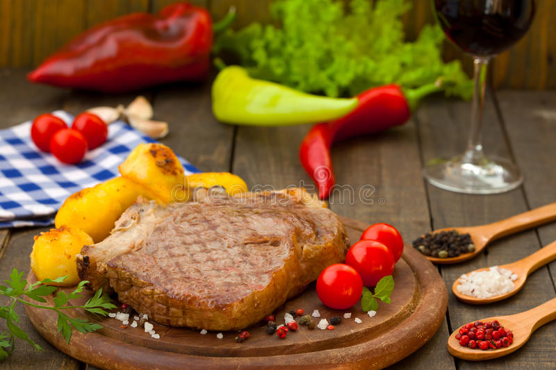 Barbecue beef steak royalty free stock images