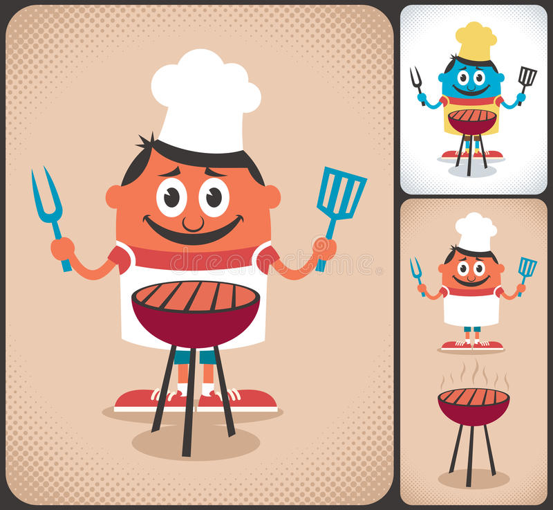 Download Barbecue stock vector. Image of leisure, apron, life - 33614461
