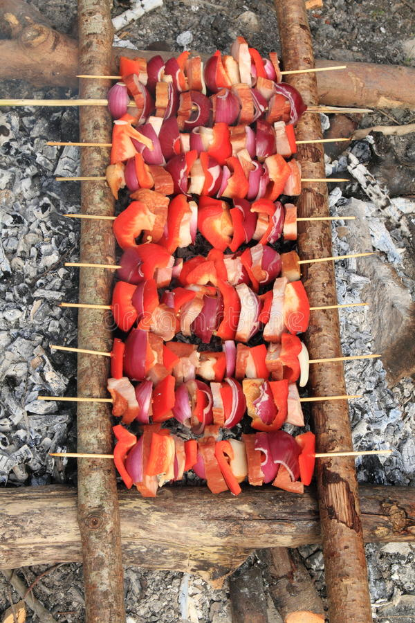 Barbecue in cenere immagine stock libera da diritti