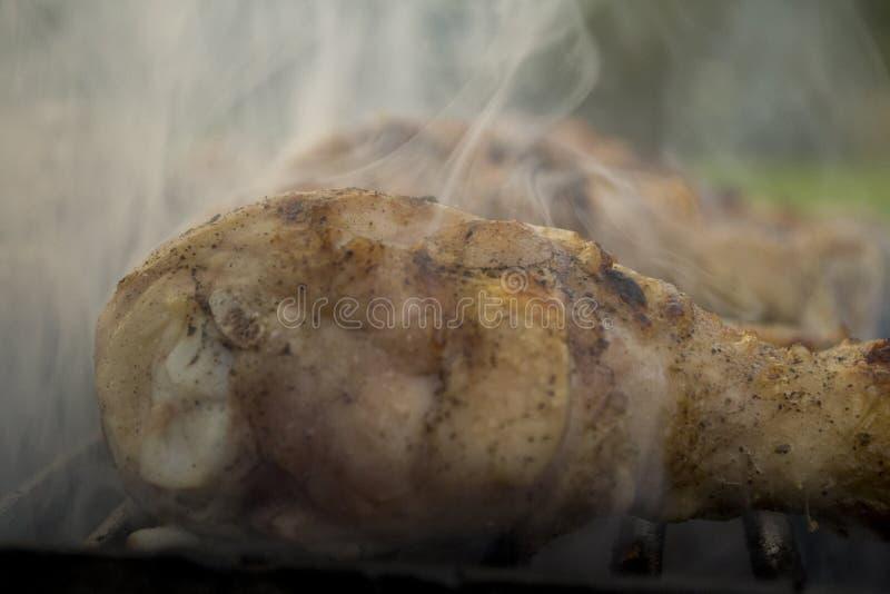 Barbecue chicken legs stock photo