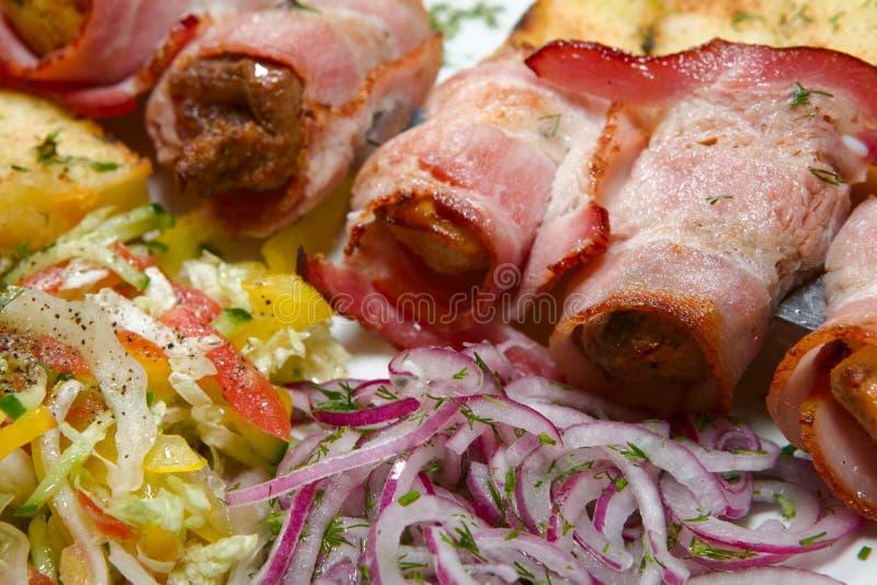 Barbecue con salsa fotografie stock libere da diritti
