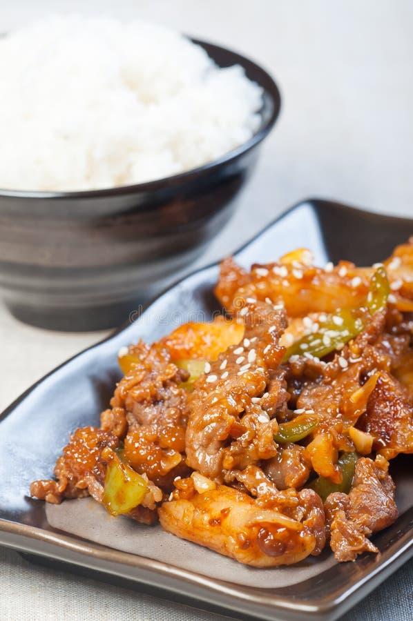 Barbecue coreano del manzo immagine stock