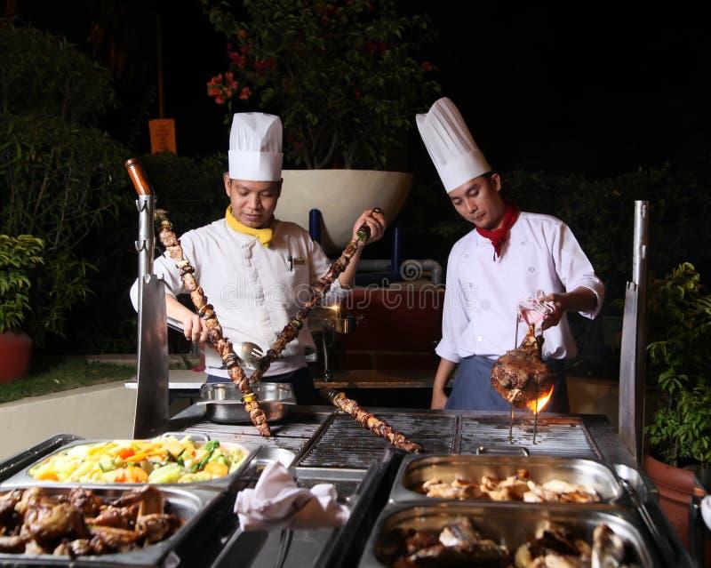 Barbecue de dîner images libres de droits