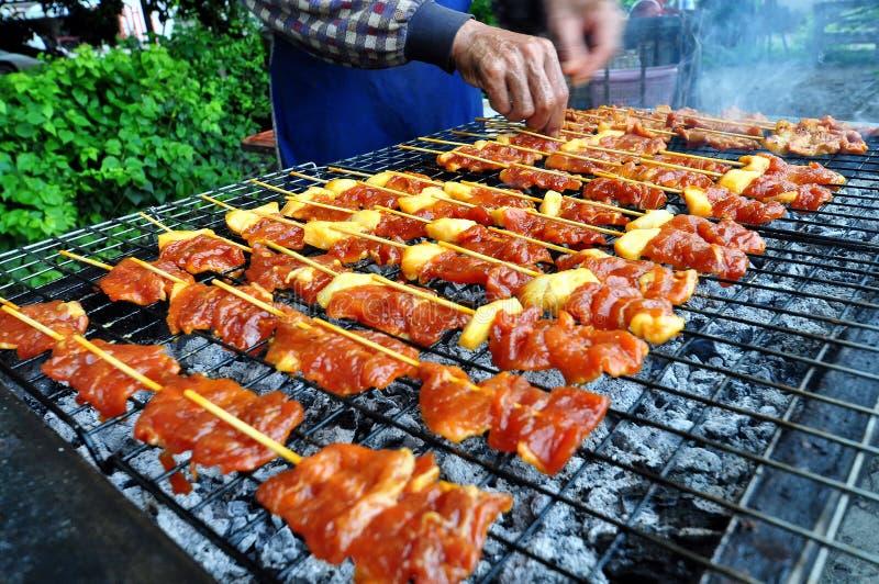 Barbecue de porc de gril photographie stock