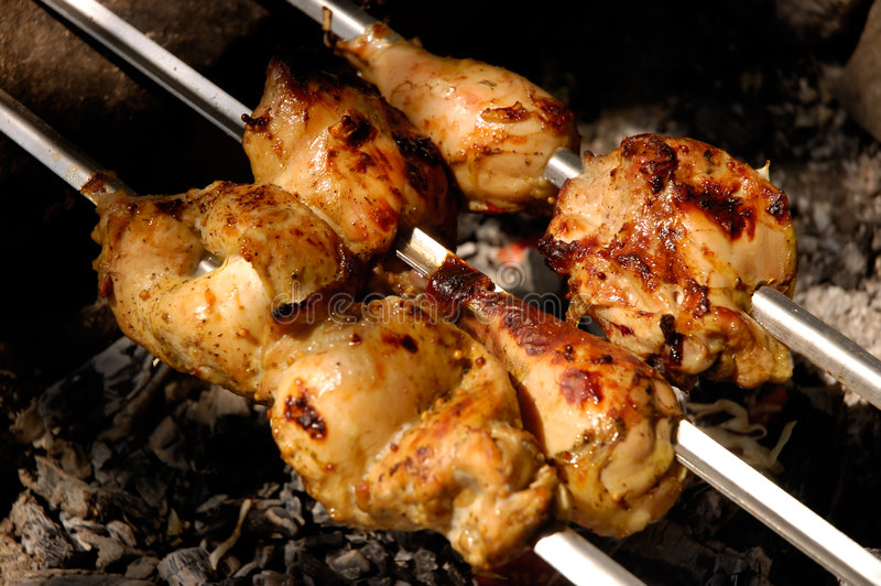 Barbecue de poulet image stock