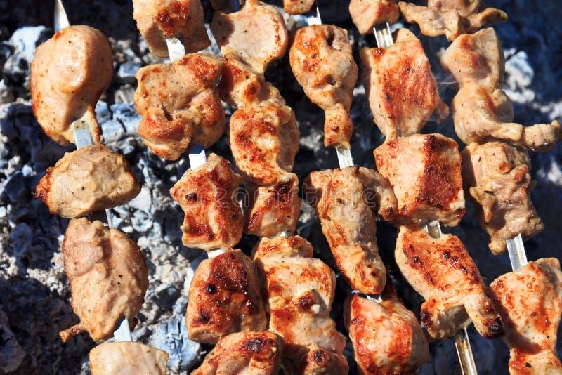 Barbecue de Shashlik photographie stock libre de droits