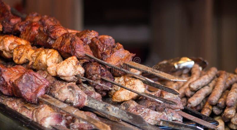 Barbecue de viande images libres de droits