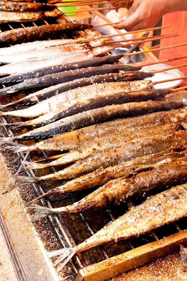 Barbecue dei pesci fotografia stock libera da diritti