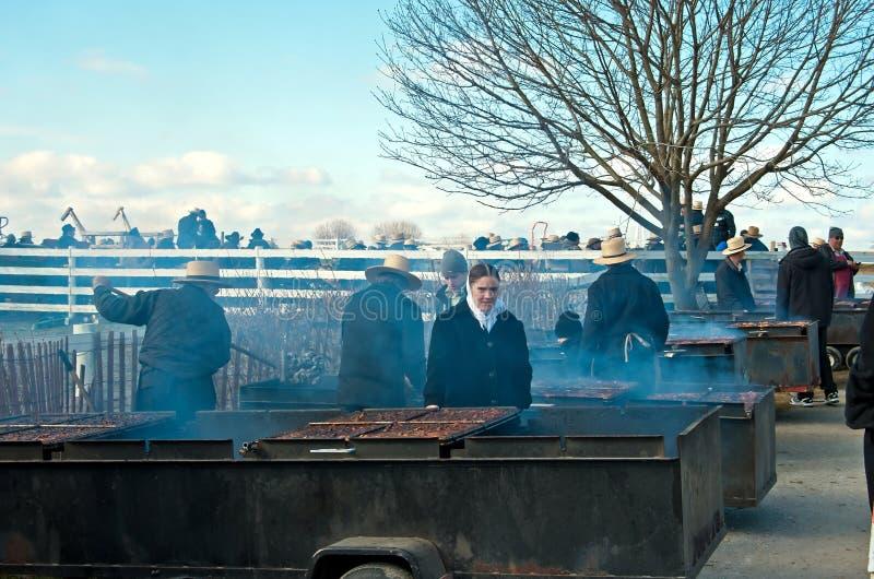 Barbecue del pollo di Amish immagine stock libera da diritti