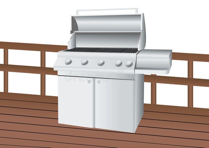 Barbecue dell'acciaio inossidabile illustrazione di stock