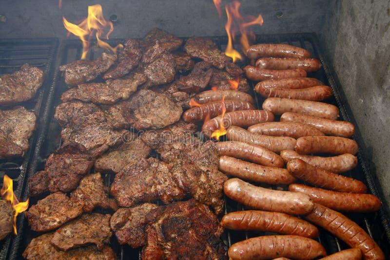 Barbecue della salsiccia fotografia stock libera da diritti
