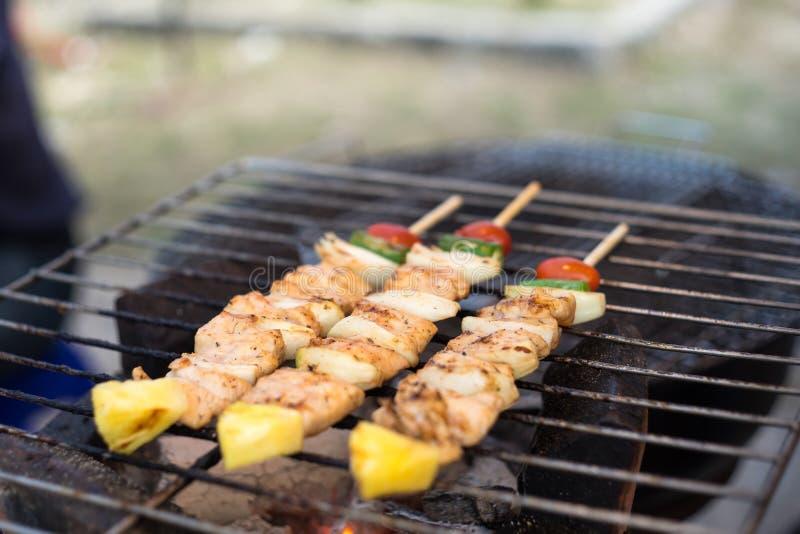 Barbecue et rôti de porc images libres de droits