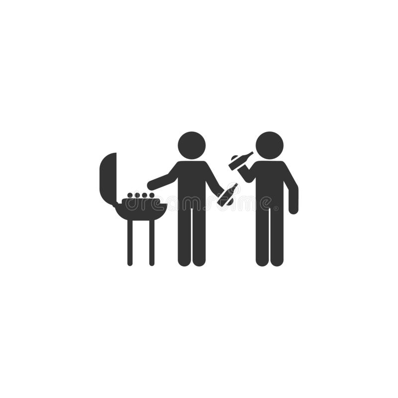 Barbecue friends icon. Simple glyph vector of friendship set icons for UI and UX, website or mobile application royalty free illustration