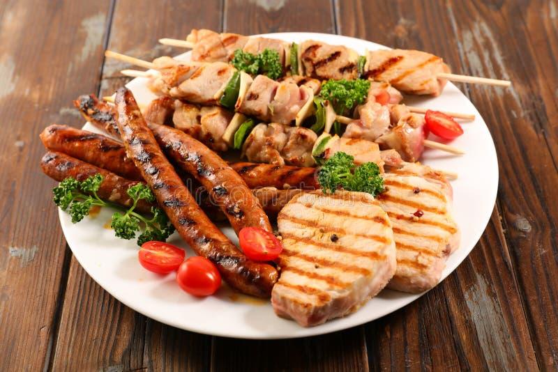 Barbecue fritto delle carni fotografia stock
