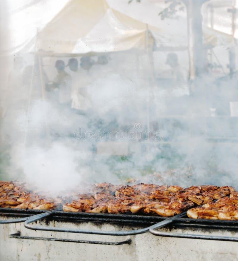 Barbecue gigante fotografie stock