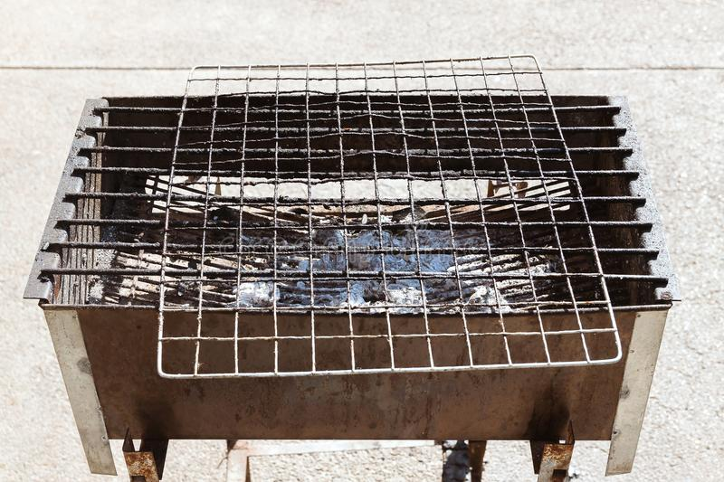 Barbecue grill old stock image