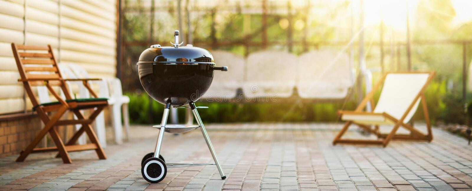 Barbecue Grill in the Open Air. Summer Holidays stock photos
