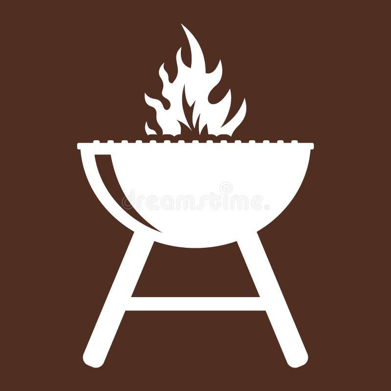 barbecue grilla odizolowywającego ilustracji