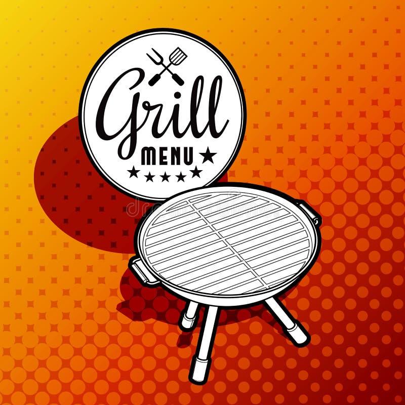 barbecue grilla odizolowywającego ilustracja wektor