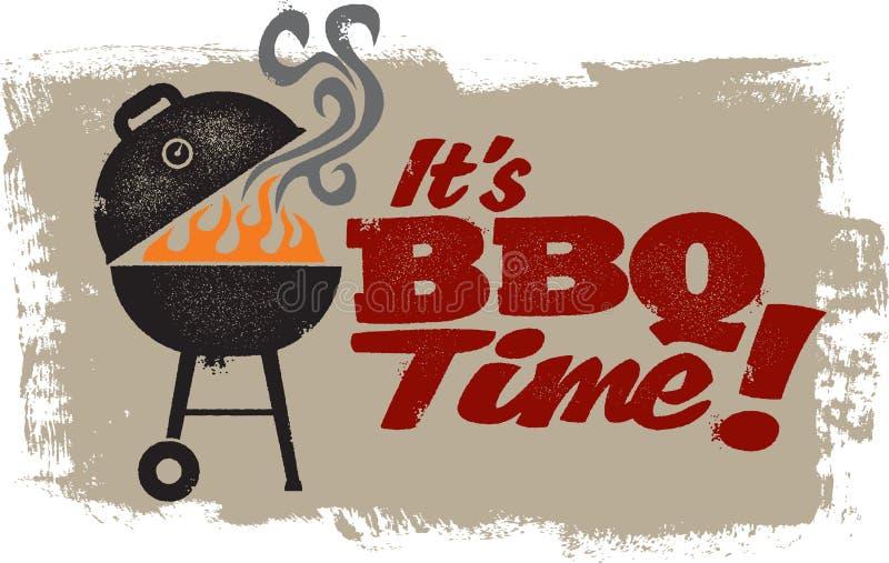 Barbecue grillant le temps illustration de vecteur
