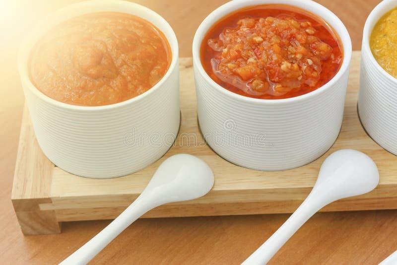Barbecue, homemade sauces, barbecue sauce, white bowl, stock photos