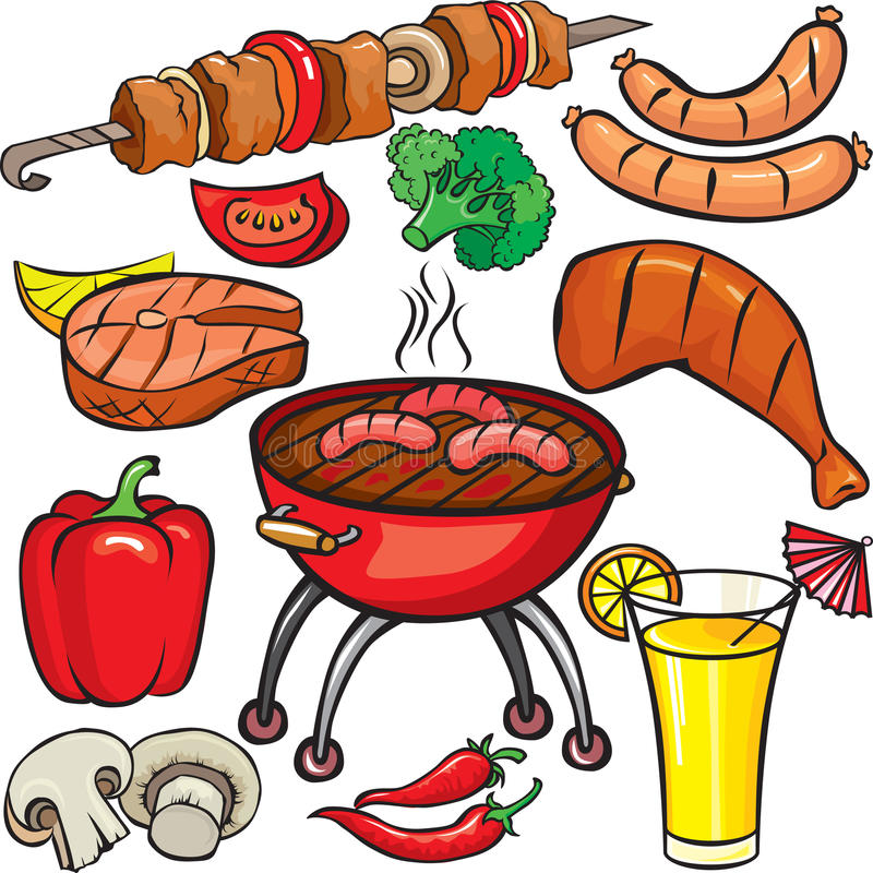 Barbecue Icon Set Royalty Free Stock Photo