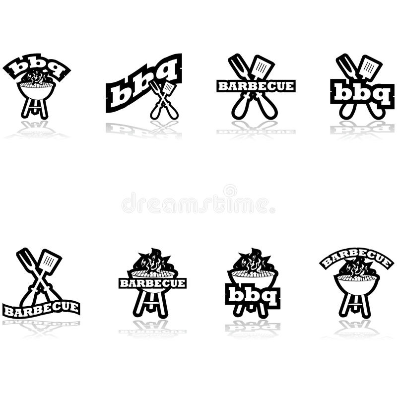Free Barbecue Icons Stock Photography - 44371942