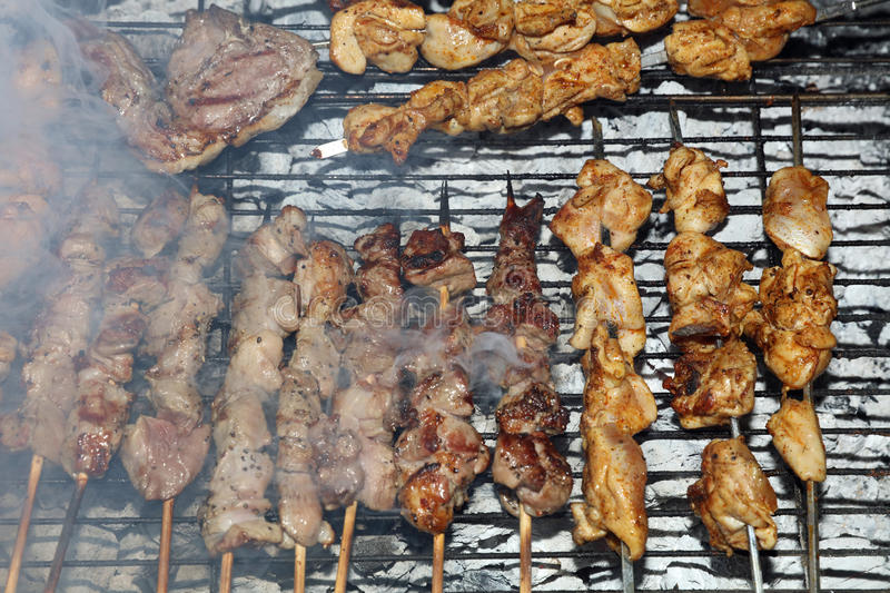 Barbecue in Israel stock photo