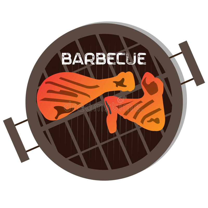 Barbecue label. Isolated barbecue label, Vector illustration royalty free illustration