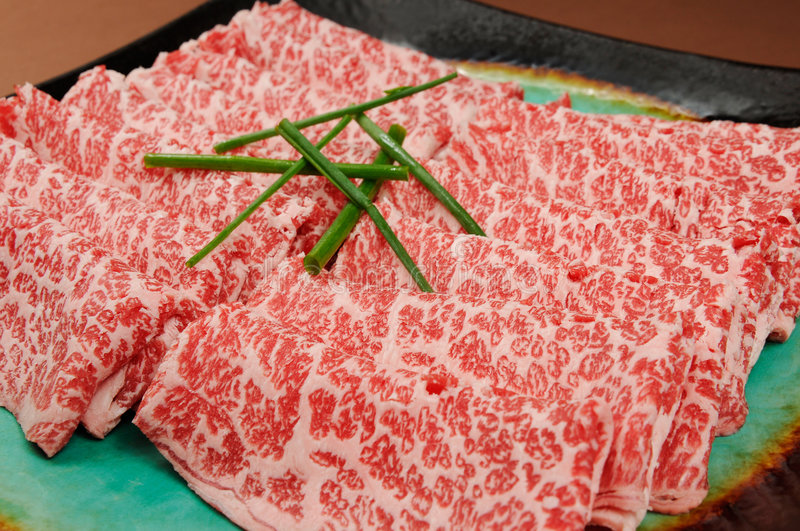 Barbecue meat. Rich Japanese barbecue restaurant on table stock photography