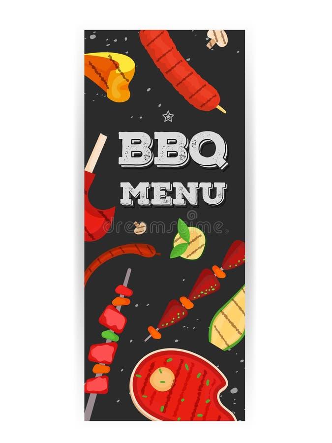 Barbecue menu, invitation design. BBQ. Modern vector barbecue menu, invitation design template set. Trendy BBQ cookout poster, web banner, cover design, sample vector illustration