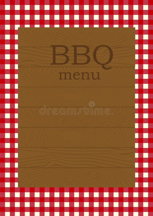 Barbecue menu page. Page template for a restaurant menu stock illustration