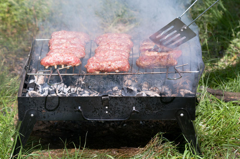Download Barbecue with mici stock photo. Image of barbeque, cook - 21404204