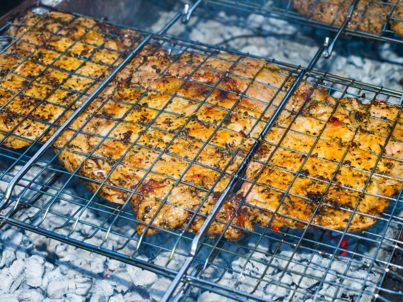 Barbecue op de grill royalty-vrije stock afbeelding