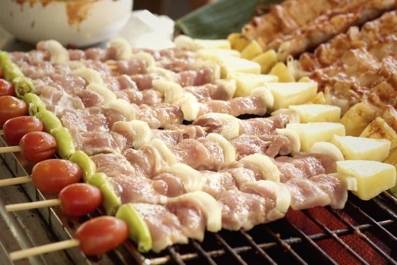 Barbecue ou gril de BBQ de viande image libre de droits