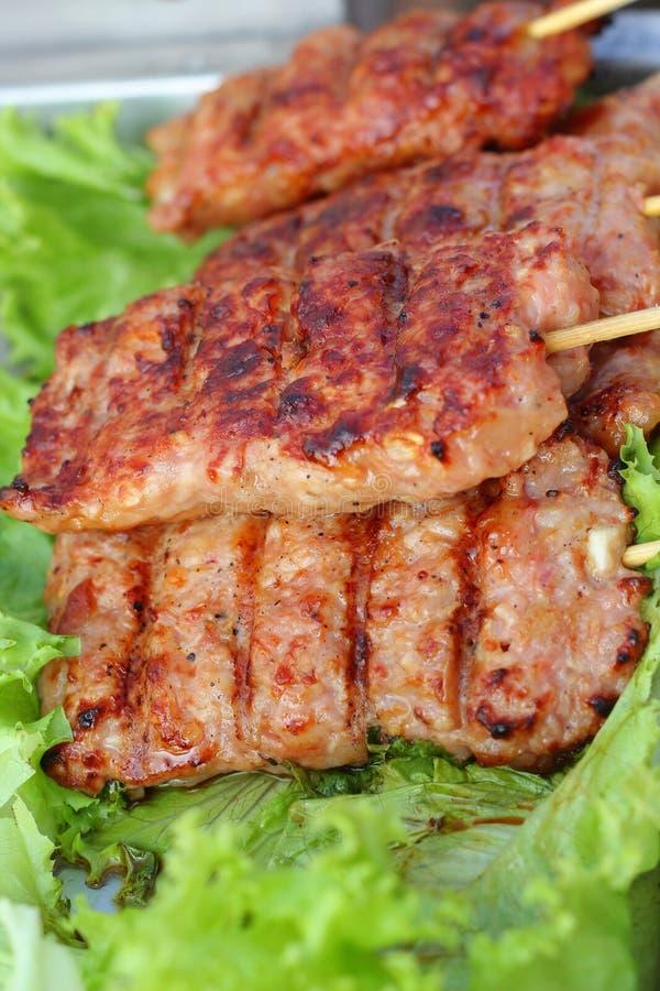 Barbecue ou gril de BBQ de viande photographie stock