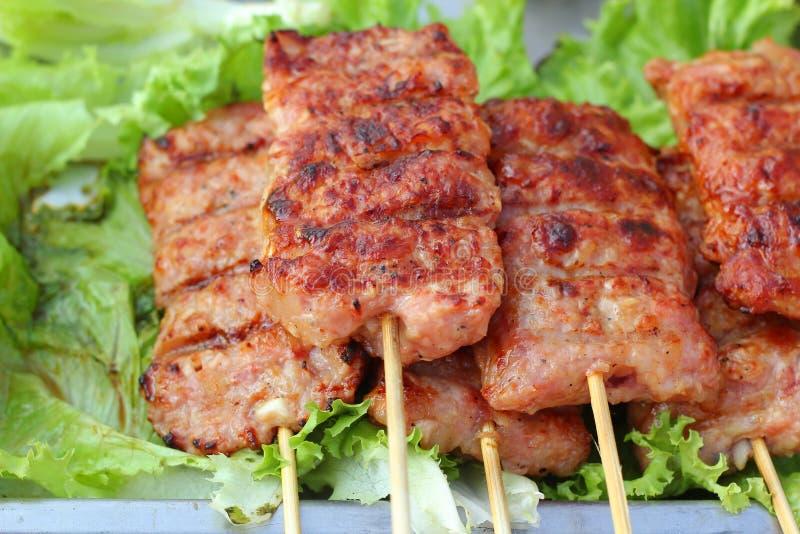 Barbecue ou gril de BBQ de viande image stock