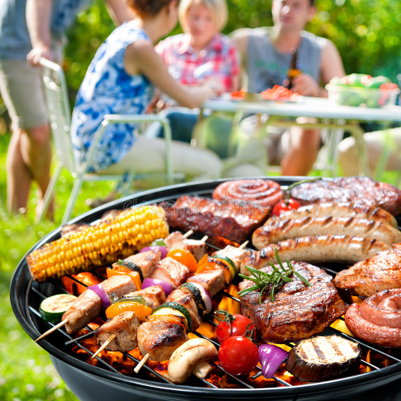 Barbecue party royalty free stock image