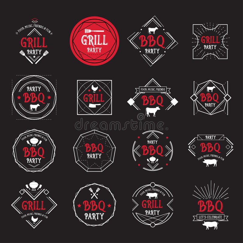 Barbecue party icon. BBQ menu design. royalty free illustration